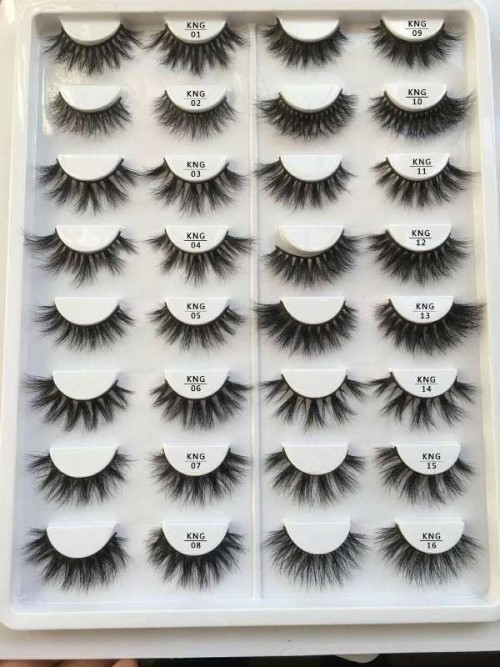 Wholesale 3D KNG46 Style  Best Eyelashes 3D Soft Qingdao Mink Eyelahes Box With Your Own Logo