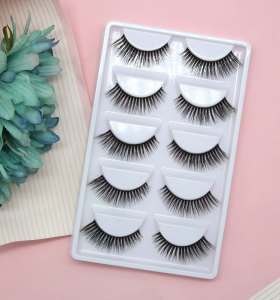 Wholesale E03 Style  Best Eyelashes  Soft Qingdao Mink Eyelahes Box With Your Own Logo