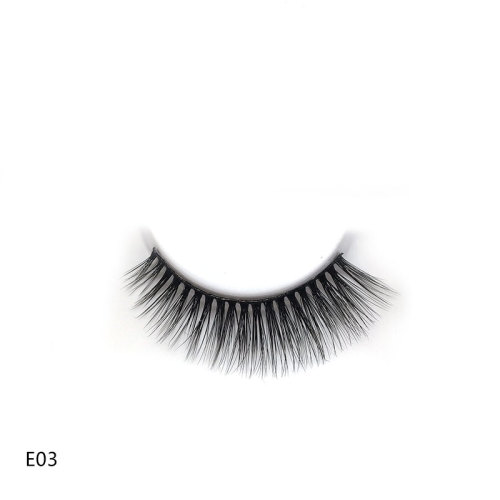 Wholesale E03 Style  Best Eyelashes  Soft Qingdao Mink Eyelahes Box With Your Own Logo