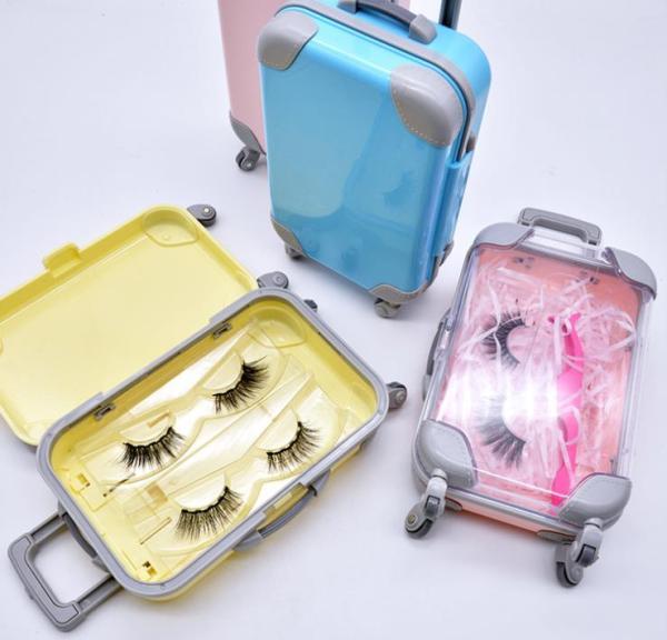 Wholesale  EShinee 3 pairs  of false eyelash storage suitcase  box