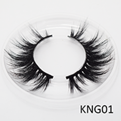 Wholesale 3D KNG01 Style  Best Eyelashes 3D Soft Qingdao Mink Eyelahes Box With Your Own Logo