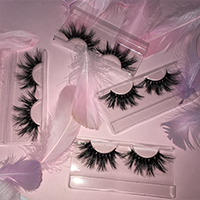Wholesale customization eshinee lashes luggage box 25mm 3D  mink lashes mini suitcase eyelash box