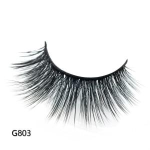 Wholesale customization Drivworld Makeup G803 10mm - 17mm mink lashes mink eyelashes 3d lashes With Custom Packaging Your Own Logo Eyelash Box