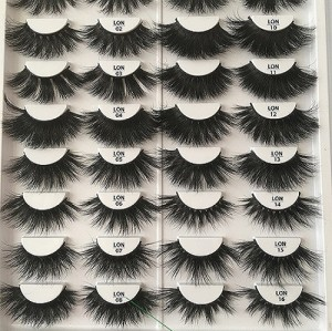 Wholesale customization  mink lashes Suitcase 25mm eyelashes 3d With Custom Packaging Your Own Logo