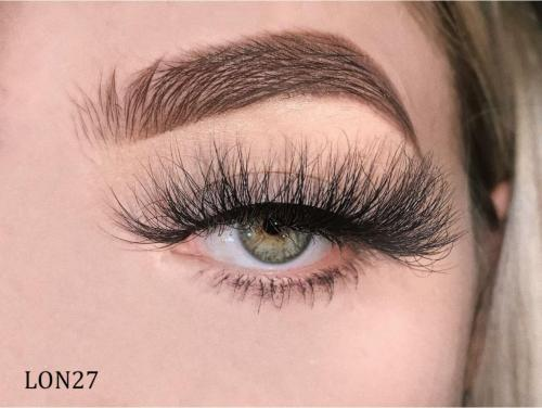 25mm Premium Real Mink Lashes LON27 with Custom Package