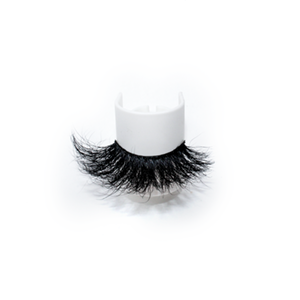 Luxury High Quality 25mm Dramatic Mink Lashes LON04 with Custom Package