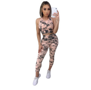 European and American fashion casual suit women's printing home 3521