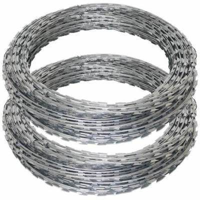 Galvanized  Sharp Razor concertina Steel Wire   for  security fence