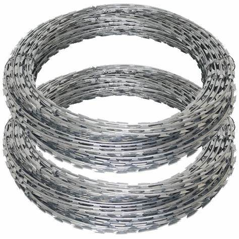 Galvanized  Sharp Razor concertina Steel Wire   for  security fence