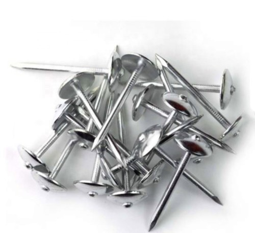 High strength roofing nails with umbrella head