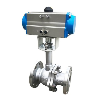 Valves low temperature pneumatic cryogenic ball valves China manufacture Amtech ball valves
