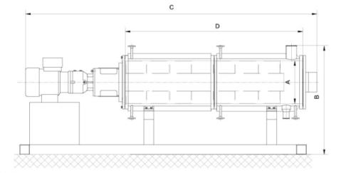 Evaporator thin film horizontal for pharmaceutical chemical use China manufacture Amtech evaporator