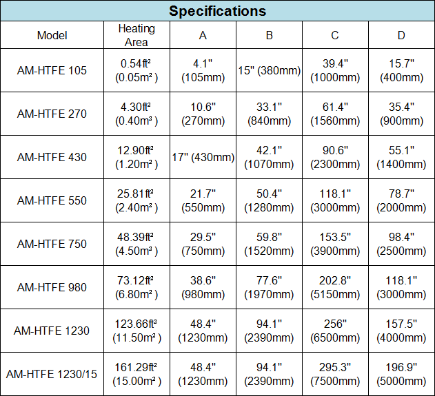 Amtech Evaporator thin film horizontal