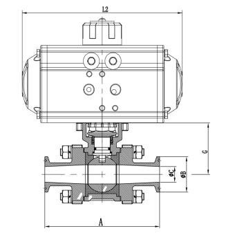 Valves low temperature pneumatic cryogenic ball valves China manufacture Amtech ball valves