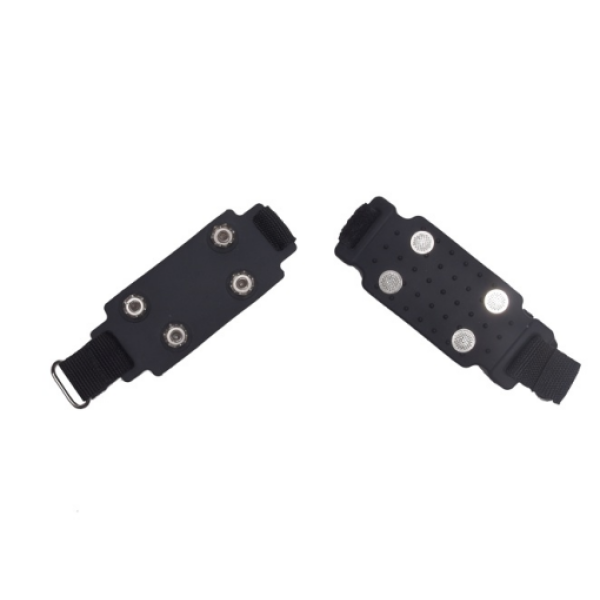 Remagy Sg-0113b 4 Spikes Rubber Lightweight  Ice Crampons   Easy To Put On And Take Off