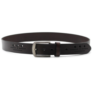 HANJUN Men's Leather Belt black 3.8*110 or customized Cow Hide