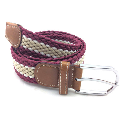 Colorful Unisex Leisure Polyester Braided Elastic Webbing Belts