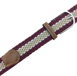 Colorful Unisex Leisure Polyester Braided Elastic Webbing Belts