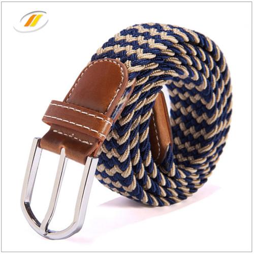 Colorful  Leisure  Braided Elastic Webbing Belts