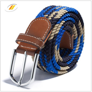 Colorful  Leisure  Braided Elastic Webbing Belts