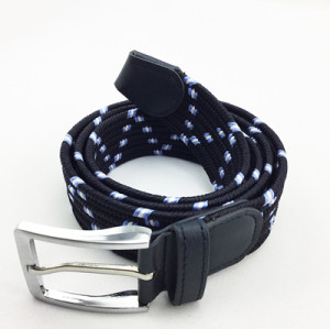 Mixed color elastic braided belt