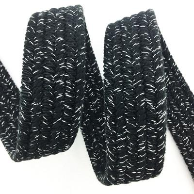 Mixed color elastic braided belt