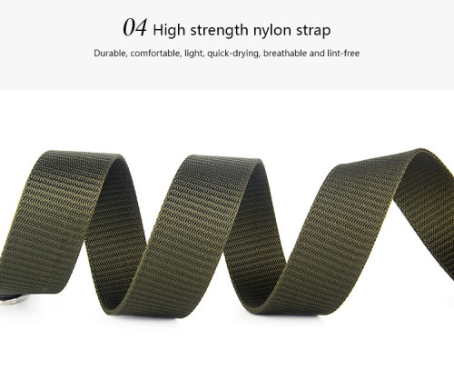 Nylon Tactical Waist Portable Metal Buckle Military Outdoor Belts