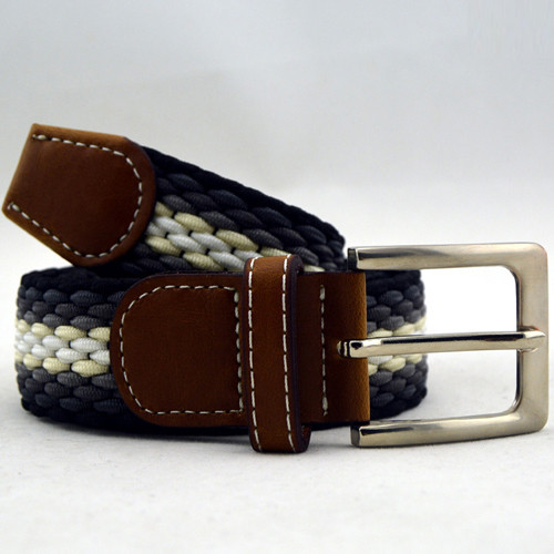 Mens Casual Woven Stretch Braided Elastic Belt