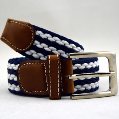 Mens Casual Woven Stretch Braided Elastic Belt
