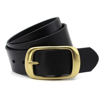 Italy Import Top Layer Cowhide Leather Waist belt Copper Buckle Belt