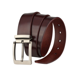 Custom Single Buckle Men Imported Genuine Leather Belt Cow Leather Belt