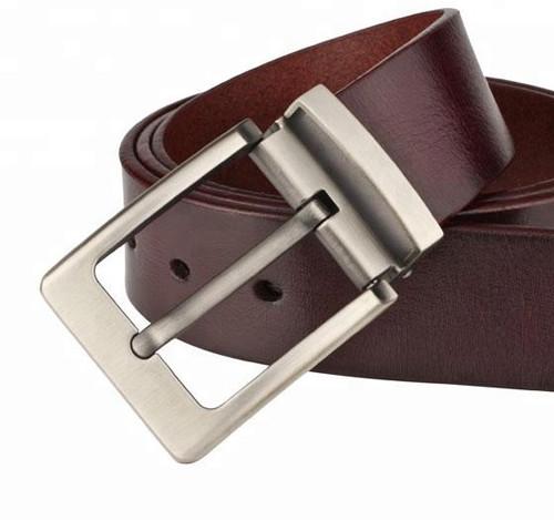 Custom Single Buckle Men Imported Genuine Leather Belt Cow Leather Belt
