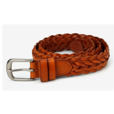 Fashion Woven Handmade First Layer Leather Braided Belt