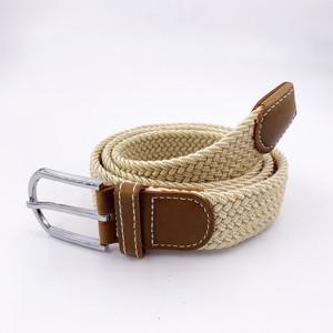 China Factory Custom Unisex Canvas Stretch Braided Elastic Belt