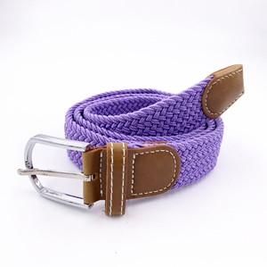 China Factory Custom Unisex Canvas Stretch Braided Elastic Belt