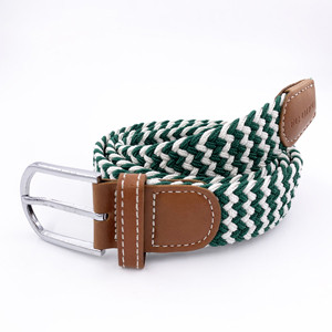 Customized Wholesale Polyester Knitted Elastic Braided Mens Belt