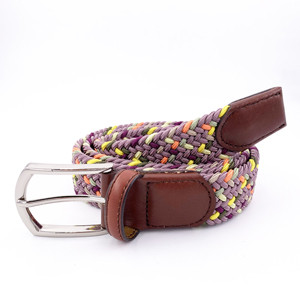 Synthetic Silk Braided Elastic Stretch Belts With Custom Logo