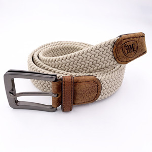 High Quality Belt Mens Braided Adjustable Silk Elastic Leisure Belt