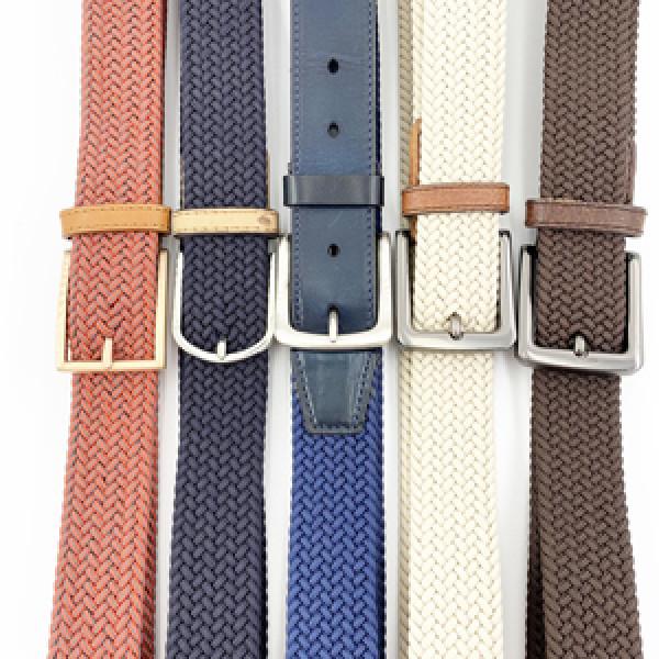 High Quality Belt Mens Braided Adjustable Silk Elastic Leisure Belt