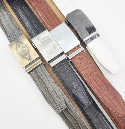Boutique Automatic Buckle Crocodile Pattern Men Leather Personality Belt