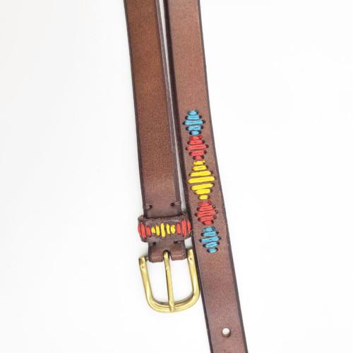 Classic Retro Version of Wild Ladies Square Alloy Buckle Leather Belt