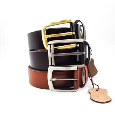 Vintage Style Cowhide Full Grain Tan Leather Belt Unisex