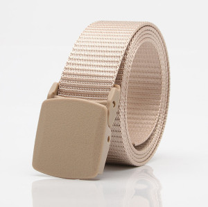 New Men Outdoor Metal-free Buckle Plastic Multi-functional Nylon Belt