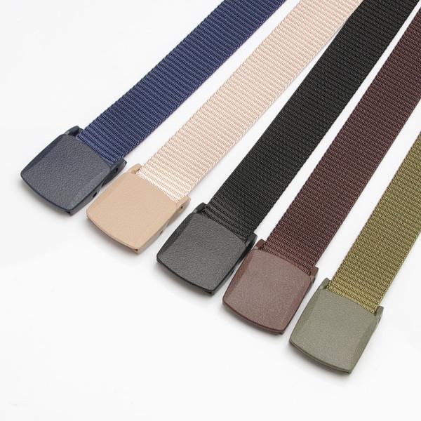 New Men Outdoor Metal-free Buckle Plastic Multi-functional Nylon Belt
