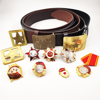 Military Leather Belt Insigne Militaire Military Insignia for Sale