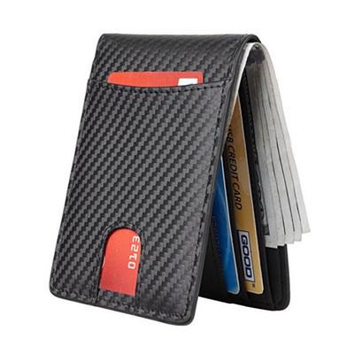 Men Genuine Leather Wallet Leather Card Holder Visa Credit Cards