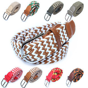 New multicolor stretch woven elastic belt wholesale spot men's women's belt canvas belt