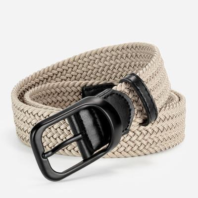 Light silk material golf belt, men's and women's sports all-match elastic belt, tooling elastic woven canvas belt