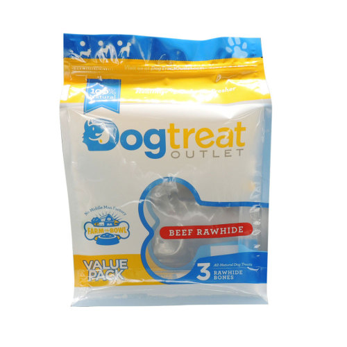 Eco Friendly Resealable Stand Up ZipLock Pouch for Dog Treats