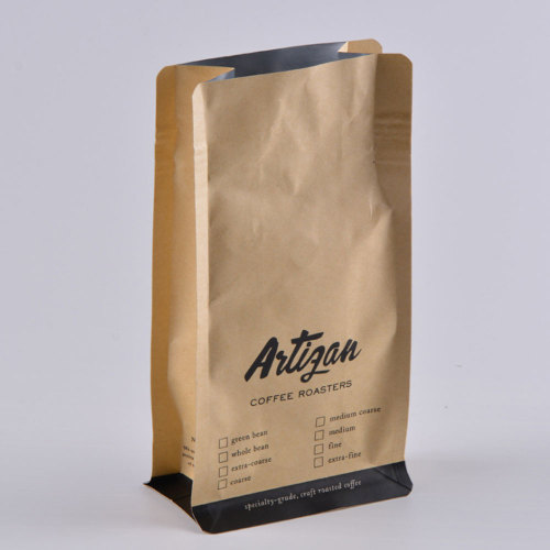 Whole Coffee Bean Kraft Paper Packaging Bag